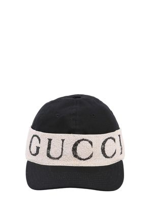 LOGO BAND COTTON GABARDINE BASEBALL HAT