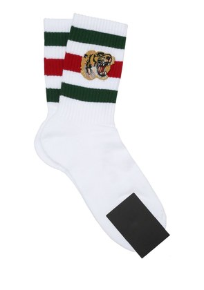 TIGER PATCH STRIPED COTTON SOCKS