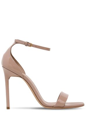 105MM AMBER PATENT LEATHER SANDALS