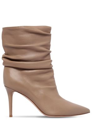 85MM CECILE NAPPA LEATHER ANKLE BOOTS