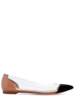 10MM PLEXI & PATENT LEATHER FLATS