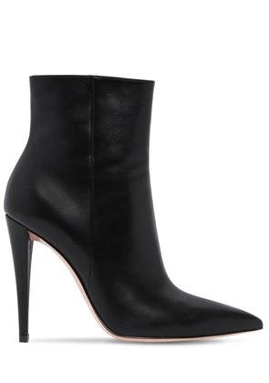 100MM LEATHER ANKLE BOOTS