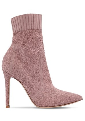 100MM FIONA BOUCLE KNIT BOOTS