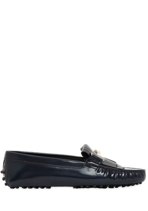 GOMMINO DOUBLE T FRINGED LEATHER LOAFERS