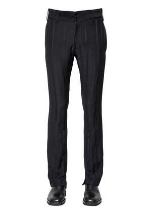 21CM STRIPED VISCOSE BLEND CREPE PANTS