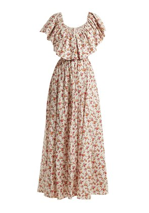 Jarvis floral-print cotton maxi dress