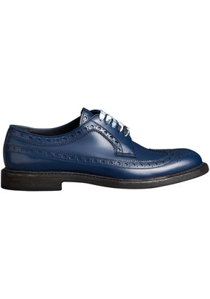 Burberry Leather Brogues with Painted Laces - Blue