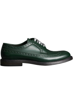 Burberry Leather Brogues with Painted Laces - Green