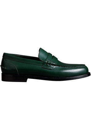 Burberry Leather Penny Loafers - Green