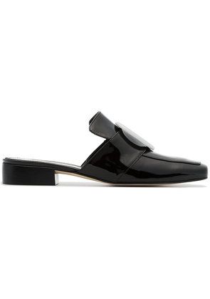 Dorateymur black Petrol Shadow patent leather backless loafers