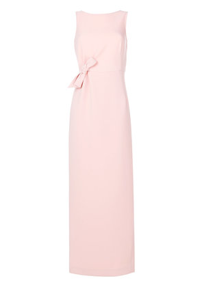 P.A.R.O.S.H. bow sleeveless gown - Pink & Purple