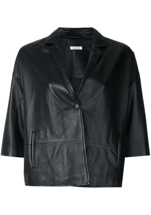 P.A.R.O.S.H. short-sleeve fitted jacket - Black