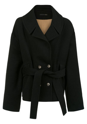 À La Garçonne wool oversized coat - Black