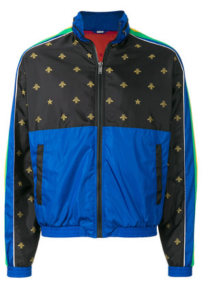 Gucci Bee side-stripe jacket - Blue