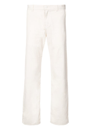 Naked And Famous loose fit straight chinos - White