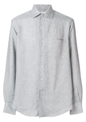 Loro Piana long-sleeve fitted shirt - Grey
