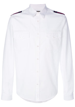 Gucci duke shirt with bee web - White