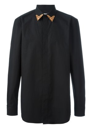 Givenchy contrast collar tip shirt - Black