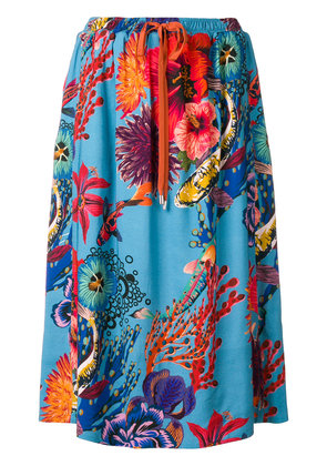 Paul Smith ocean print skirt - Blue