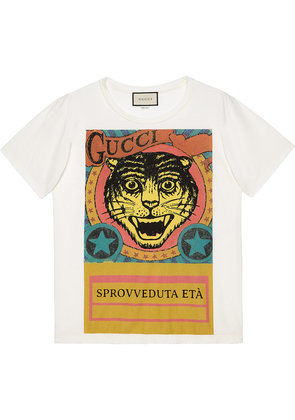 Gucci Tiger print T-shirt - White