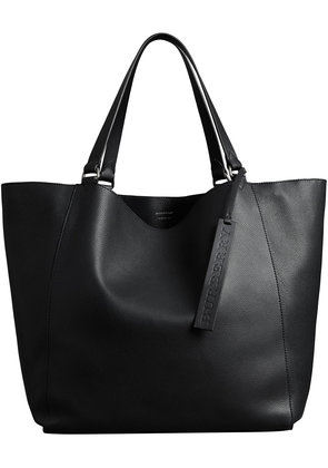 Burberry Large Bonded Leather Tote - Black