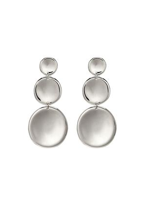 '3 Round Thumbprint' coin drop earrings