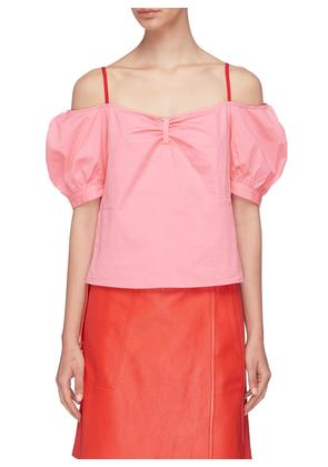 'Ruby' puffed sleeve off-shoulder top