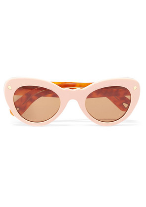 Lucy Folk - Wingspan Two-tone Cat-eye Acetate Sunglasses - Pink