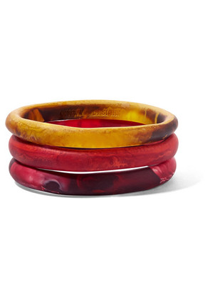 Dinosaur Designs - Wishbone Set Of Three Resin Bangles - Orange