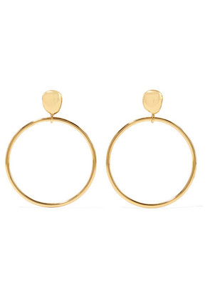 Dinosaur Designs - Mineral Gold-plated Hoop Earrings - one size