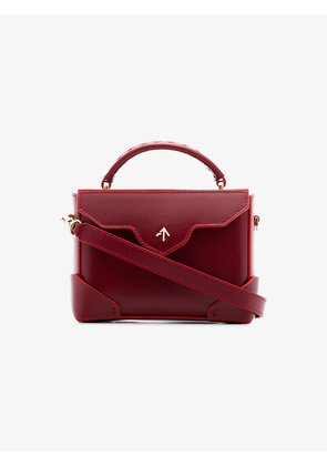 Manu Atelier red Micro Bold leather cross-body bag