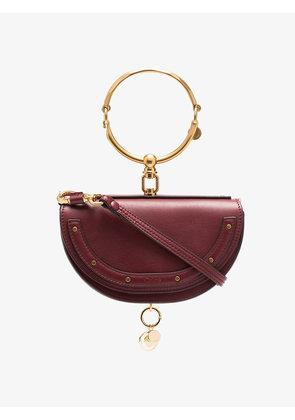 Chloé red Nile Minaudiere leather bag