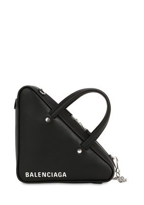 SMALL TRIANGLE LEATHER SHOULDER BAG