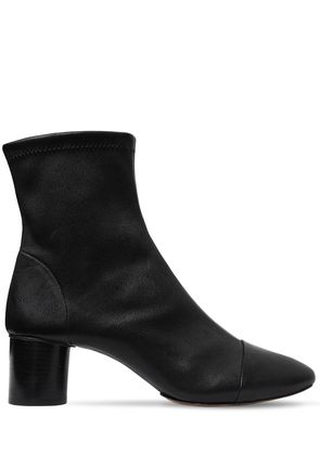 50MM DATSY STRETCH LEATHER ANKLE BOOTS