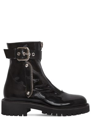40MM PATENT LEATHER ANKLE BOOTS