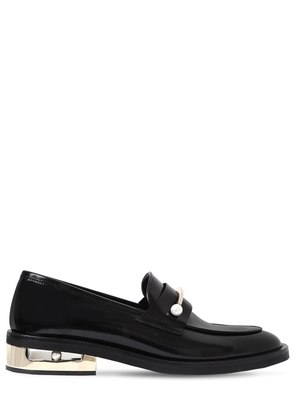 20MM ABBY PIERCING LEATHER LOAFERS