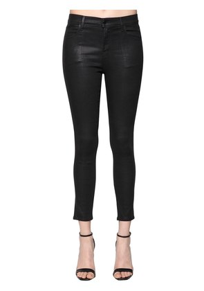 SKINNY ALANA COATED COTTON DENIM JEANS