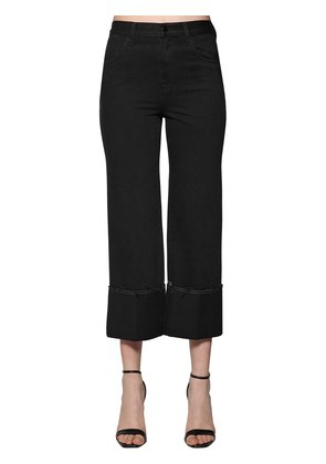 HIGH WAIST JOAN WIDE LEG DENIM JEANS