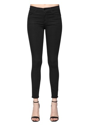 SUPER SKINNY MID RISE DENIM JEANS