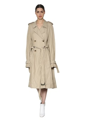 COTTON BLEND TWILL TRENCH COAT