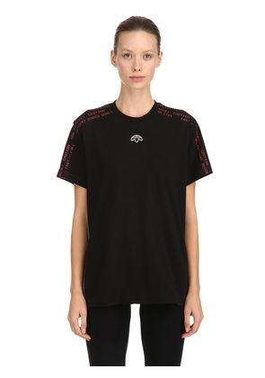 AW GRAPHIC COTTON JACQUARD T-SHIRT