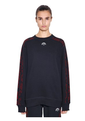 AW GRAPHIC COTTON JACQUARD SWEATSHIRT