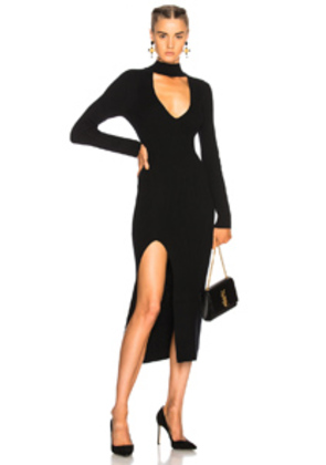 Michelle Mason Sweater Dress in Black