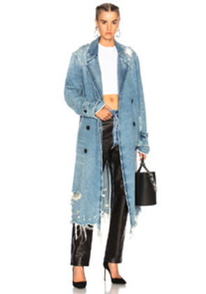 Alexander Wang Trench Coat in Blue