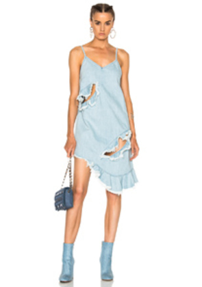 Marques ' Almeida Thin Strap Dress in Blue