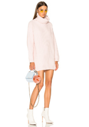 Acne Studios Disa Turtleneck Sweater in Pink