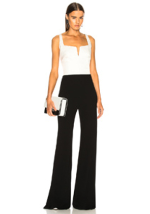 GALVAN Eclipse Jumpsuit in Black,White