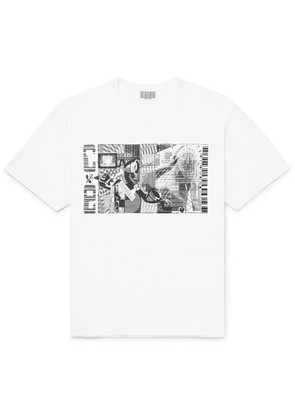 Md Telephony Printed Cotton-jersey T-shirt