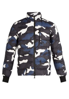 Camouflage-print down jacket