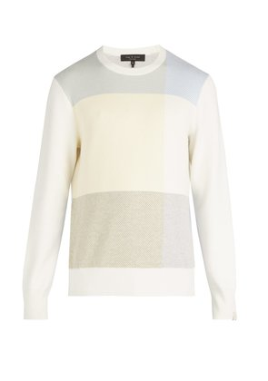 Mitch jacquard-knit cotton blend sweater